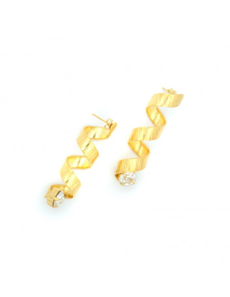 Σκουλαρίκια από μπρούντζο χρυσό HARACHTE 3