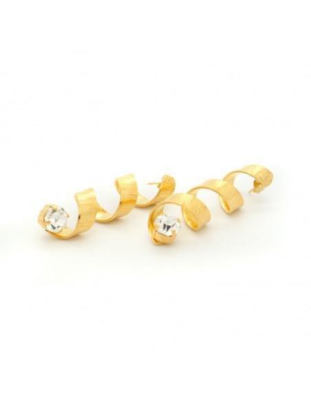 Σκουλαρίκια από μπρούντζο χρυσό HARACHTE