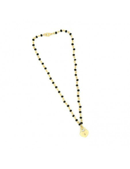 Necklace with bronze pendant gold LOVE KEY 3