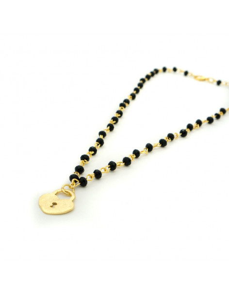 Necklace with bronze pendant gold LOVE KEY