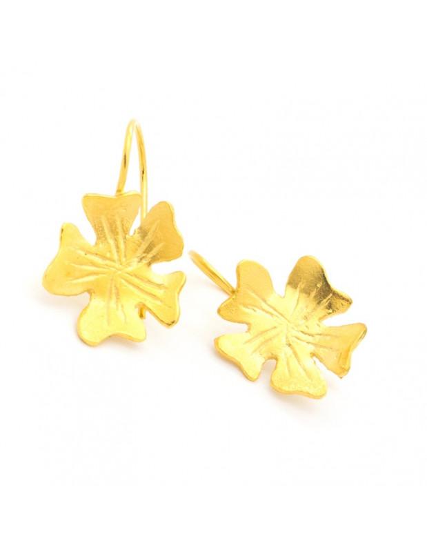 Σκουλαρίκια από μπρούτζο χρυσό LOUDA