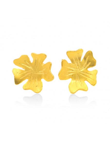 Σκουλαρίκια από μπρούτζο χρυσό LOUDA 3