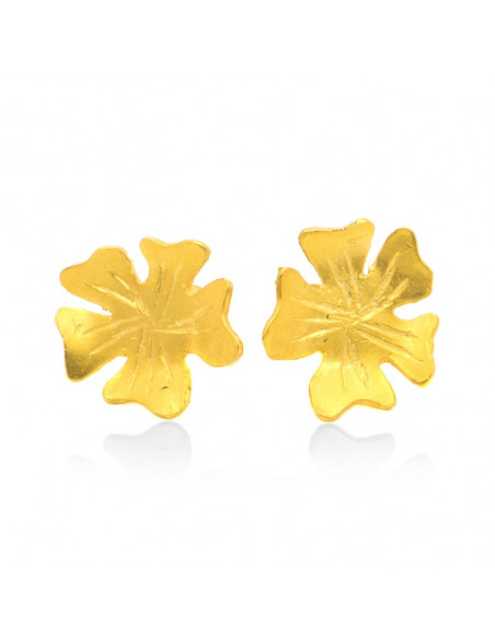 Ohrringe aus Bronze gold LOUDA 3