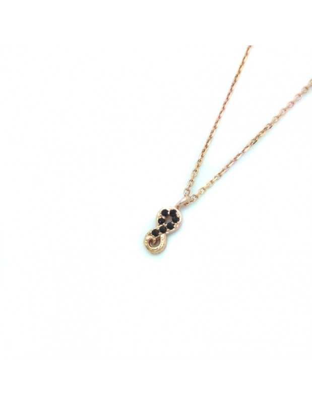Silver Necklace rose gold plated APIRO