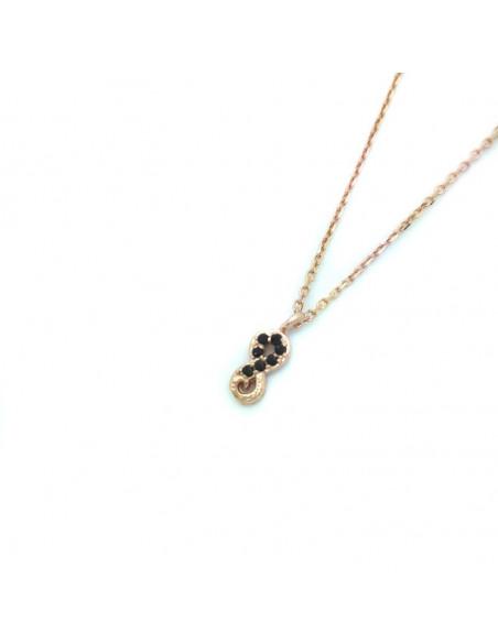 Silber Halskette rosé gold vergoldet APIRO