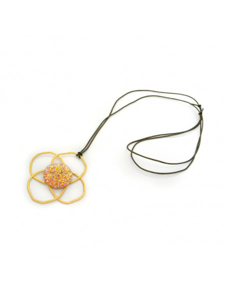 Necklace bronze gold plated TELOS 3