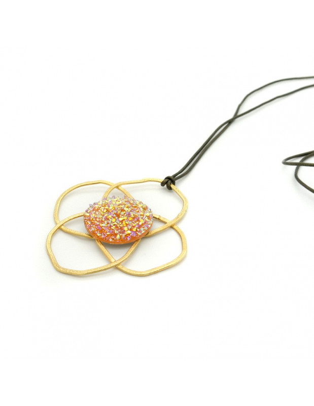 Necklace bronze gold plated TELOS