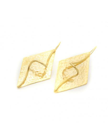 Σκουλαρίκια  από μπρούτζο χρυσό LUMIA