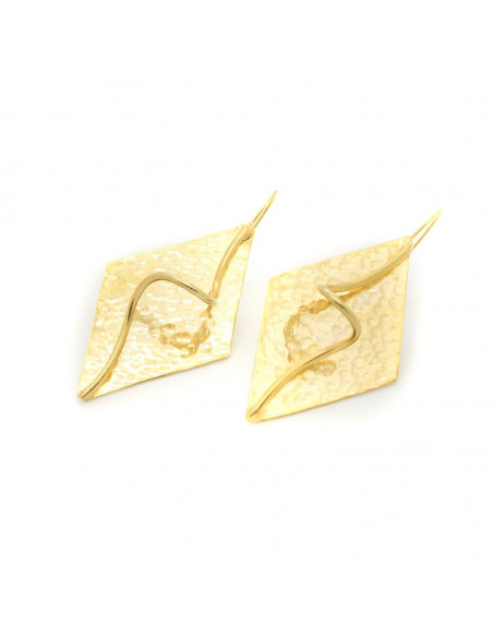 Earrings of bronze gold LUMIA