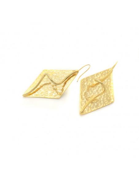 Σκουλαρίκια  από μπρούτζο χρυσό LUMIA 3
