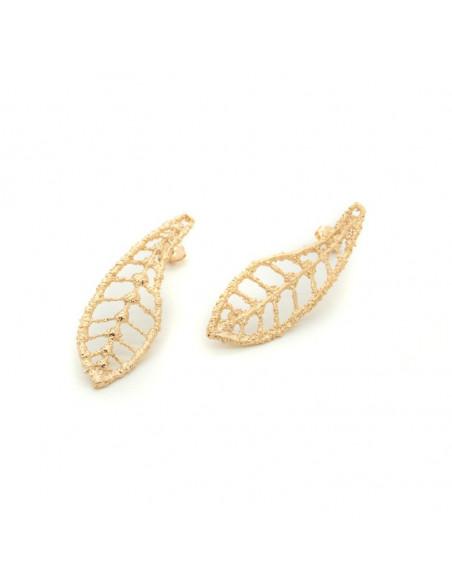 Σκουλαρίκια κρεμαστά από μπρούτζο ροζ χρυσό FILIT