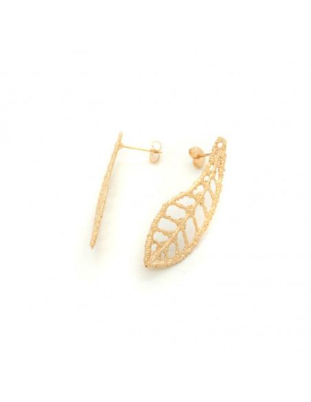 Σκουλαρίκια κρεμαστά από μπρούτζο ροζ χρυσό FILIT 3