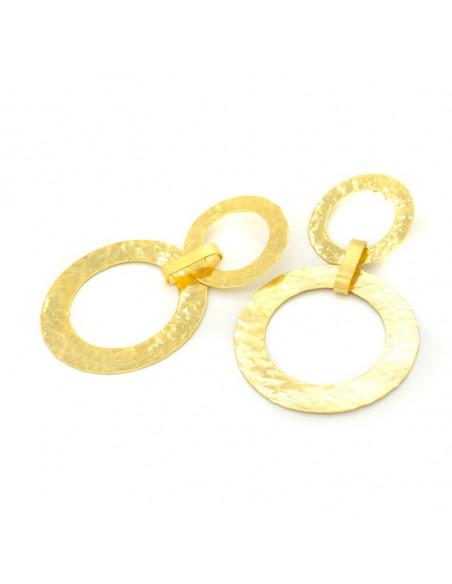 Große Ohrringe aus vergoldeter Bronze IASOS 3