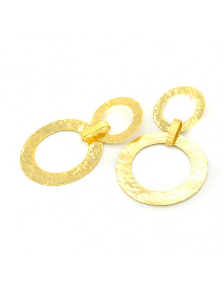 Statement earrings of gold plated bronze IASOS 3