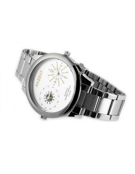 Ρολόι ανδρικό με ατσάλινο μπρασελέ RING II