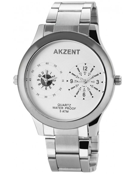Men's watch with stainless steel bracelet RING II