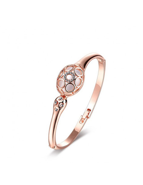 Bangle bracelet with crystals rose gold GLAMOUR