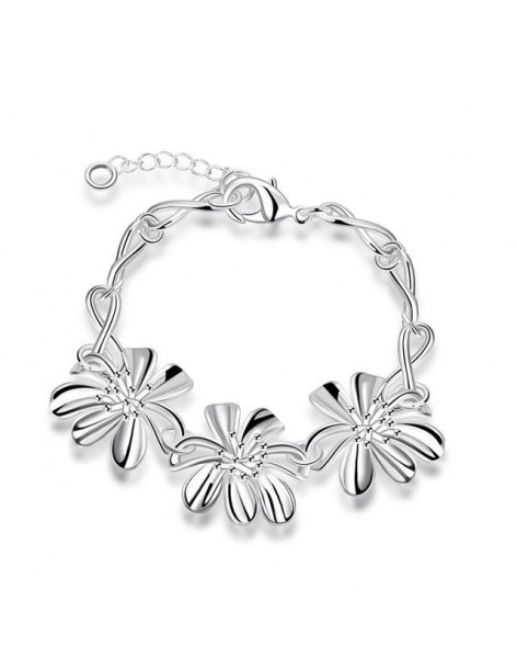 Bracelet with flowers silver BLESS