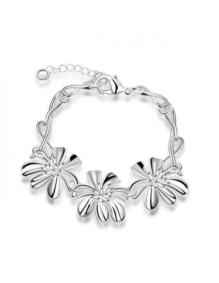 Armband mit Blumen silber BLESS