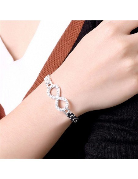 Strass Armband silber INFINITY 2