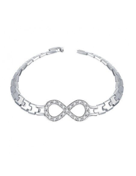 Strass Armband silber INFINITY