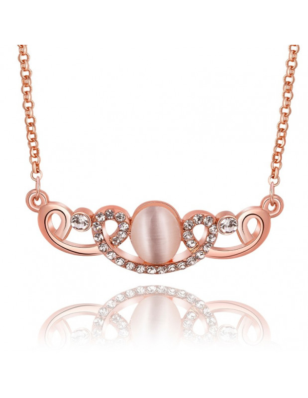 Statement rose gold plated necklace QUEEN
