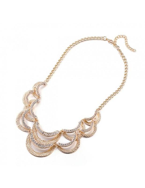 Statement necklace STRASS