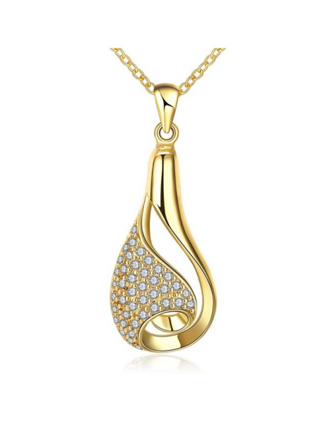 Necklace with crystals gold INANNA