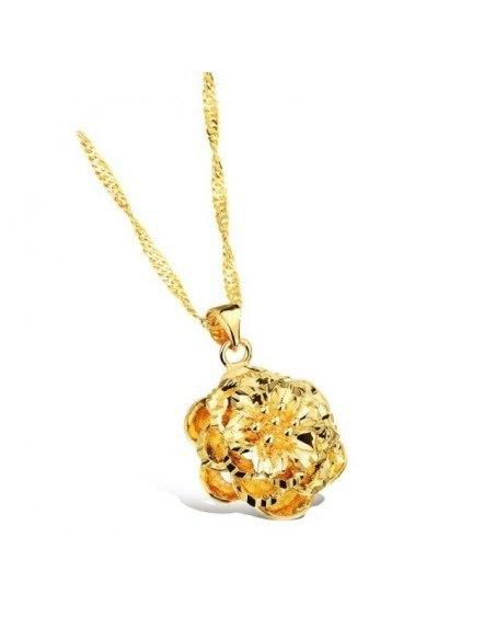 Κολιέ λουλούδι χρυσό OPLA