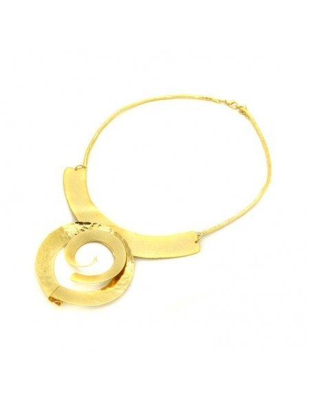 Statement necklace of bronze handmade gold ALISA 3