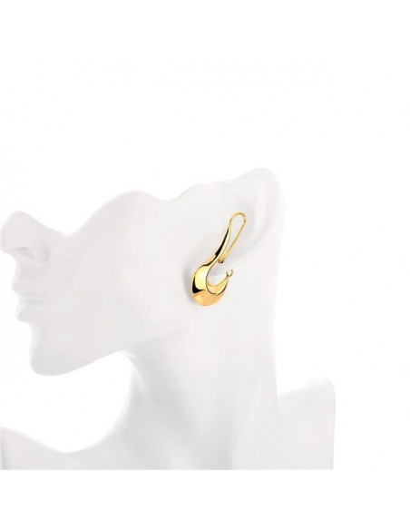 Earrings gold plated RA