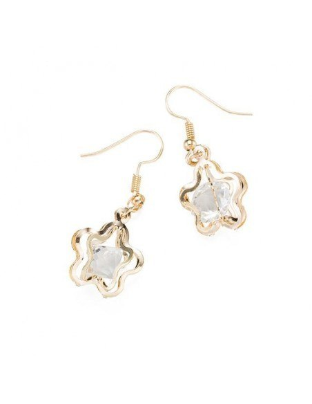 Earrings gold plated DROP