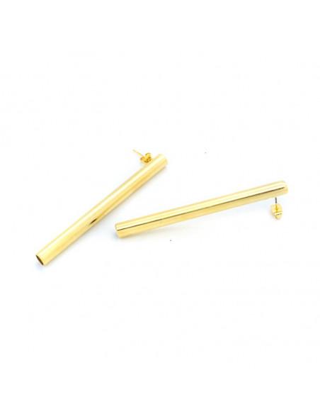 Σκουλαρίκια από μπρούντζο χρυσό PIPE 3