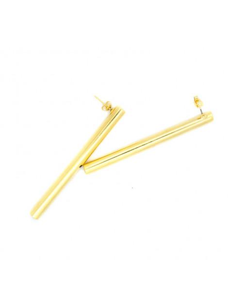 Σκουλαρίκια από μπρούντζο χρυσό PIPE