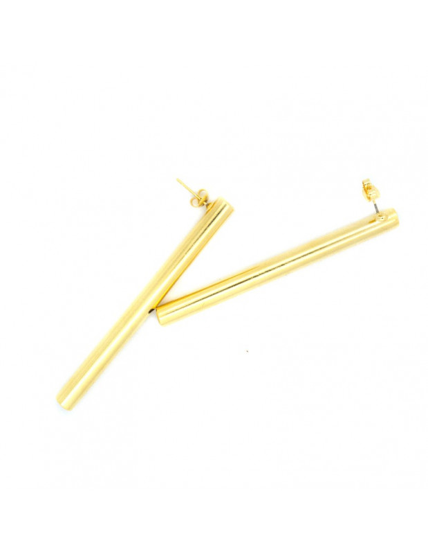Earrings made of bronze gold PIPE
