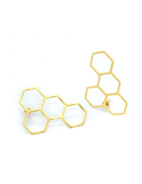 Σκουλαρίκια από μπρούντζο χρυσό WIPE