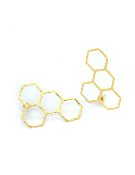 Earrings made of bronze gold WIPE