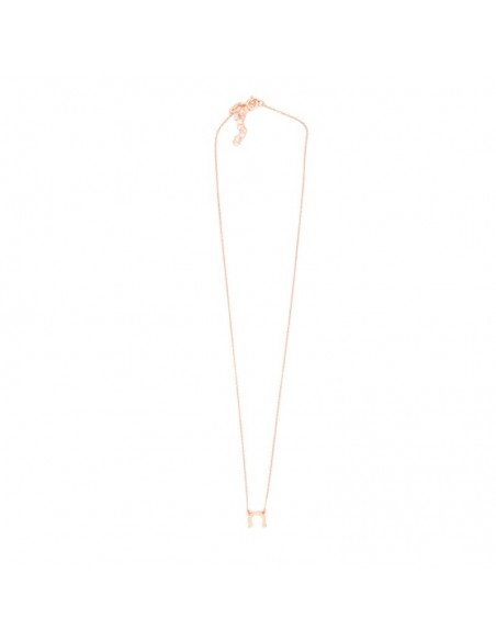 Silver necklace with horseshoe rose gold SEVAL 3