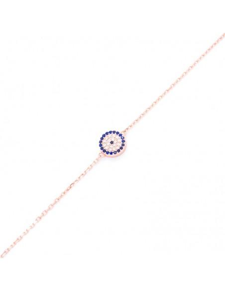 Nazar bracelet from rose gold plated silver 925 BALO 3