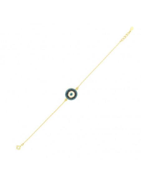 Βραχιόλι με μάτι από ασήμι 925 χρυσό PRIL 3
