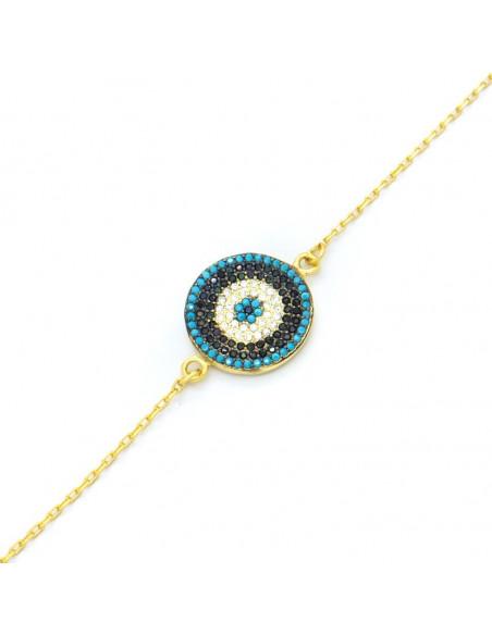 Nazar bracelet of silver 925 gold PRIL