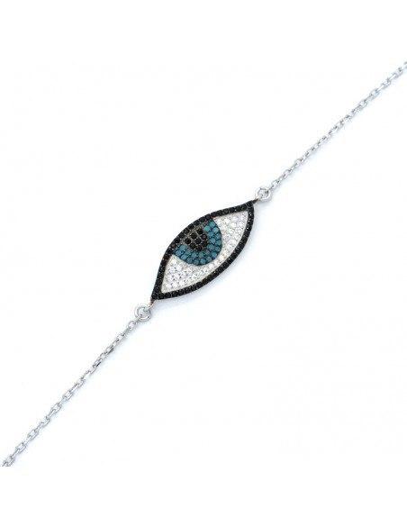 Βραχιόλι με μεγάλο μάτι από ασήμι 925 BIROL 3