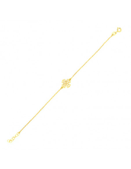 Cross bracelet of silver 925 gold plated BERNAR 3