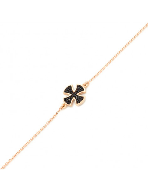 Kreuz Armband aus Silber 925 rose gold TRIAL
