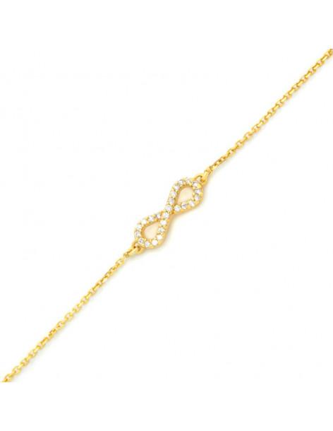 Infinity bracelet of silver 925 gold plated SERVE