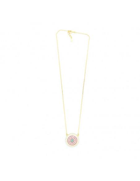 Halskette mit großem Nazar aus Silber 925 gold RHODE 3