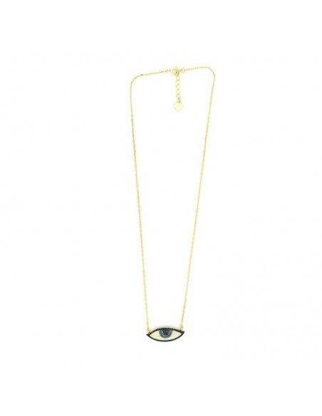 Nazar Silber Halskette gold PAREL 2