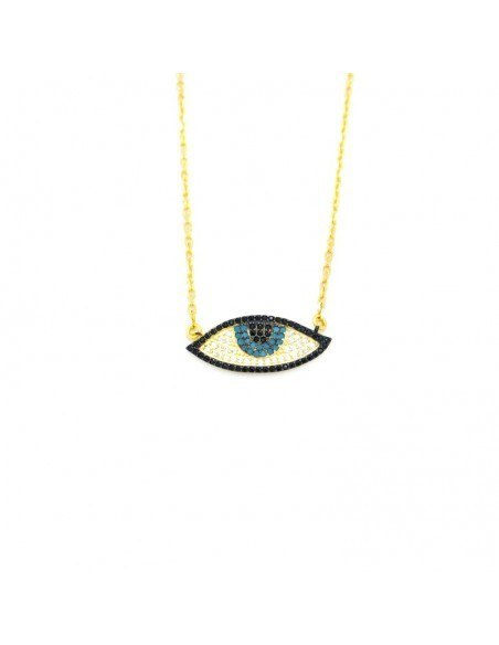 Nazar Silber Halskette gold PAREL