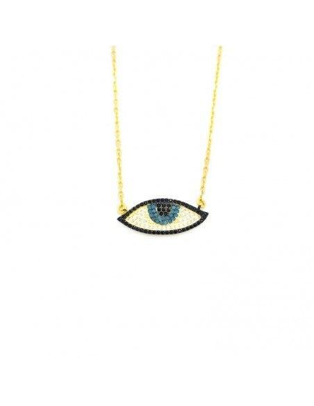 Nazar Silver Necklace gold PAREL