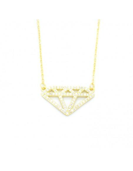 Silberkette mit Zirkonen gold DIAMANT